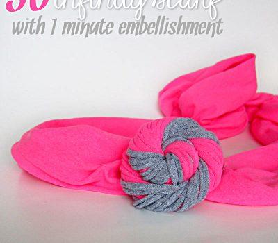 DIY 30 second infinity scarf