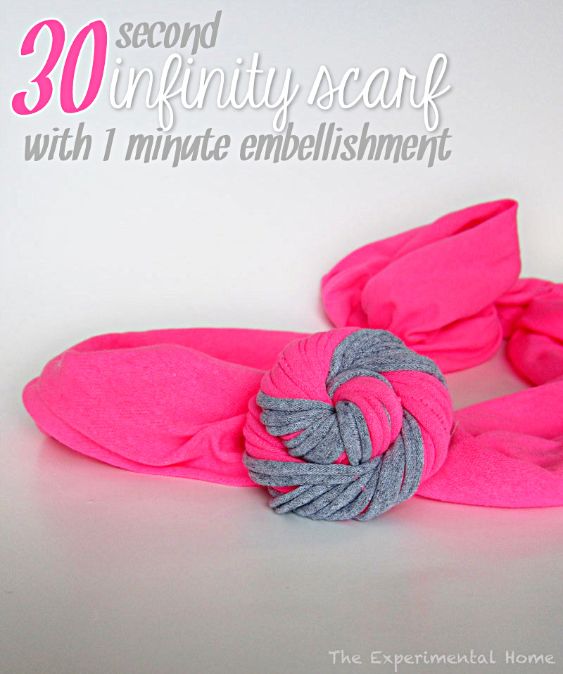 DIY 30 second infinity scarf