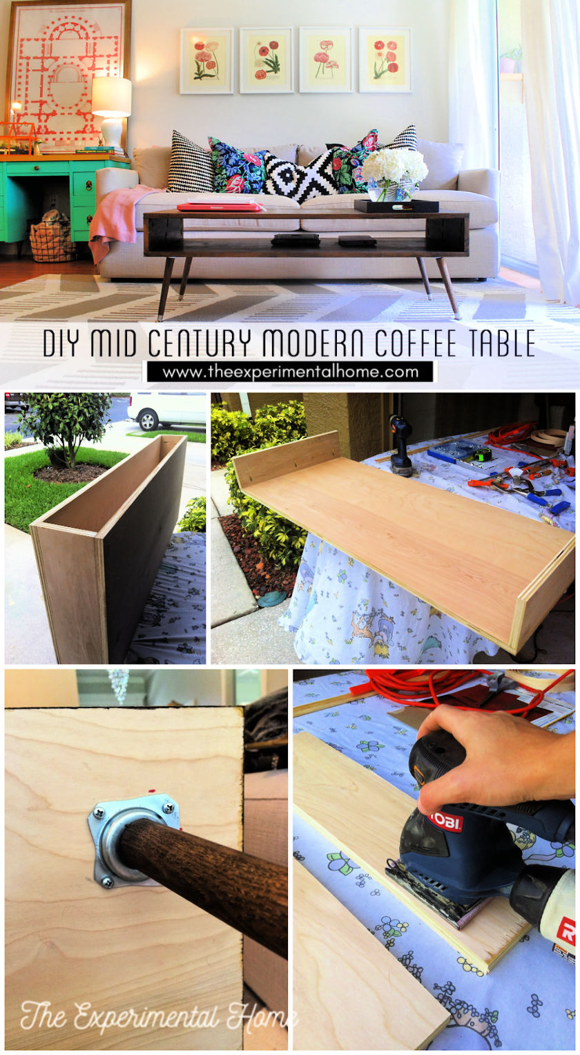 DIY Mid Century Modern Coffee Table with Step by Step Plan