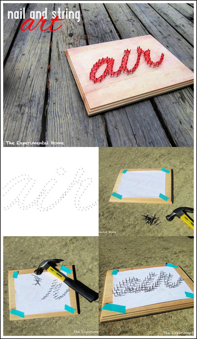 DIY Nail and String Art Step by Step