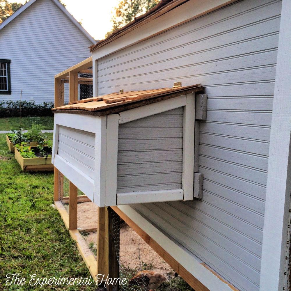 Nest box chicken coop egg holder