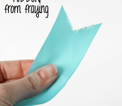 how to keep ribbon from fraying easy trick