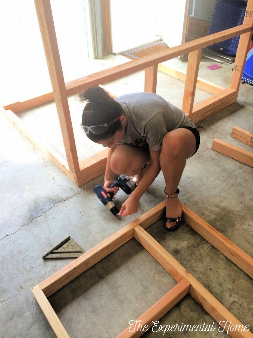 making chicken coop frame