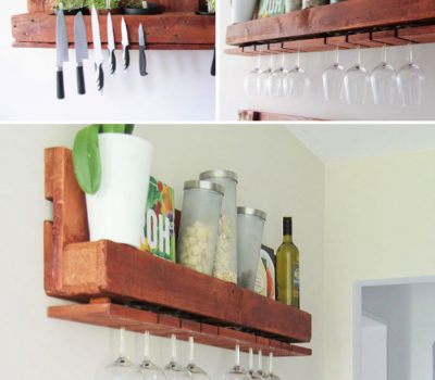 DIY Pallet Kitchen Shelves Tutorial