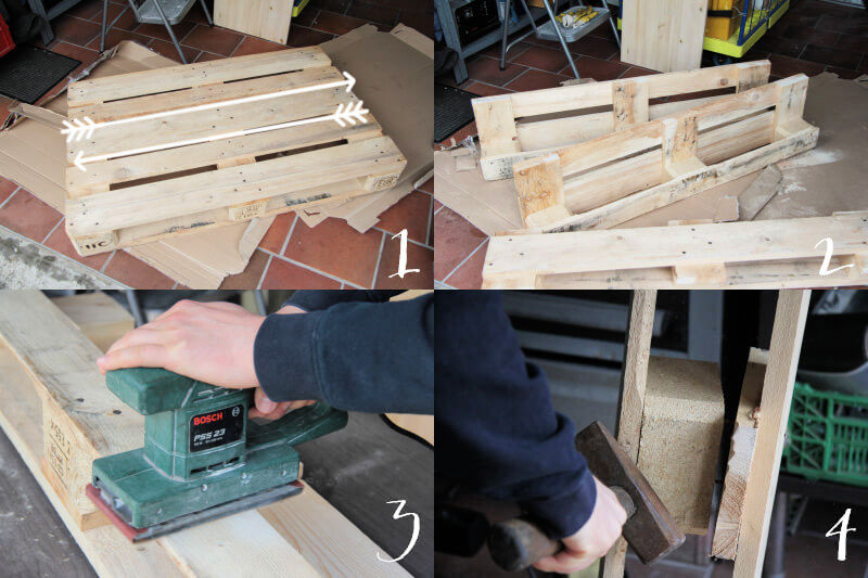 cutting pallet wood