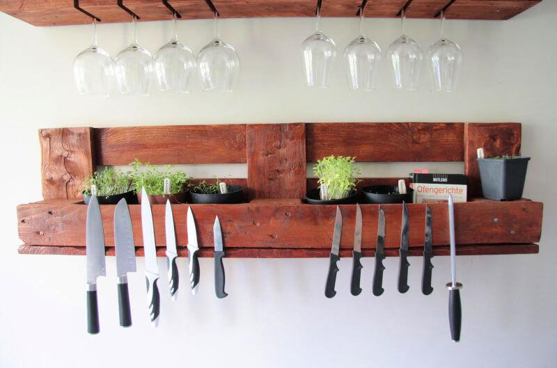 pallet glass rack